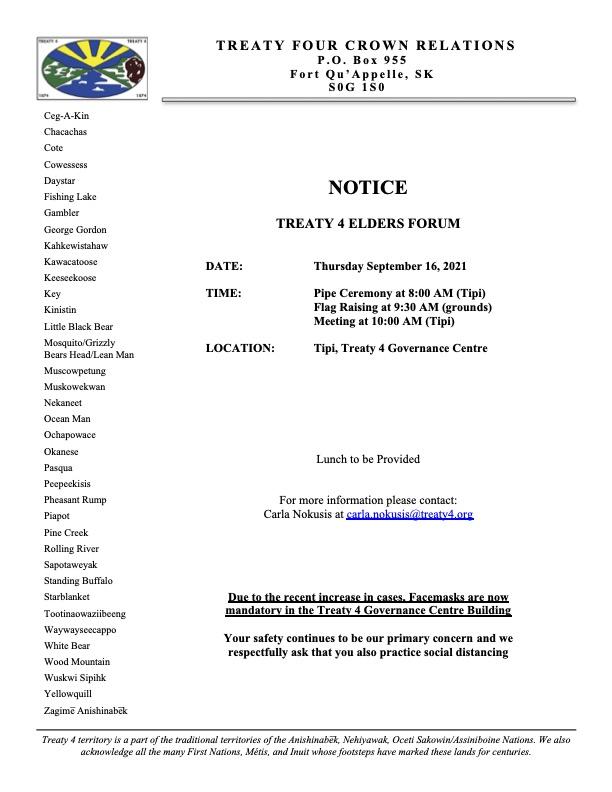 Notice Elders Forum Sept 16.21